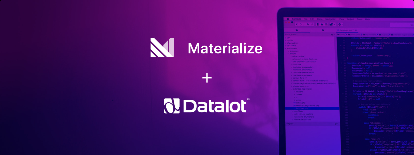 Materialize & Datalot: Real-time Application Development